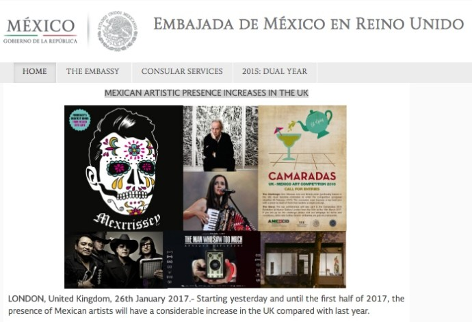 MEXICAN ARTISTIC PRESENCE INCREASES IN THE UK