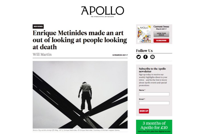 Enrique Metinides made an art out of looking at people looking at death