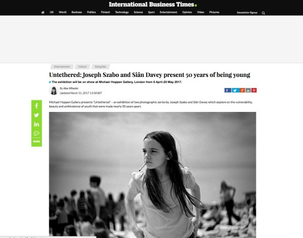 Untethered: Joseph Szabo and Siân Davey present 50 years of being young