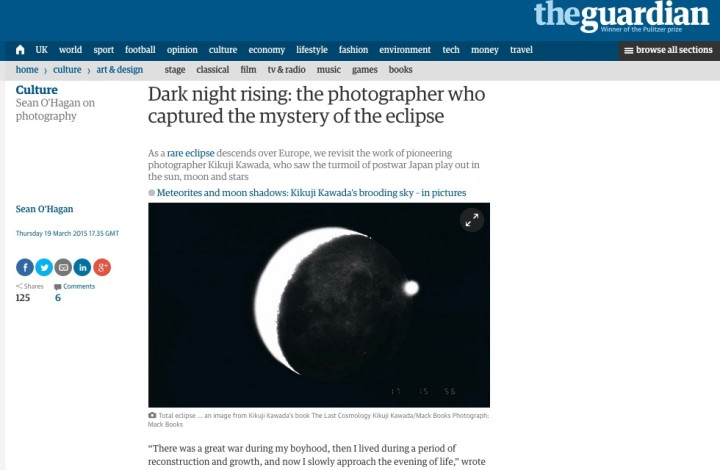 Dark night rising: the photographer who captured the mystery of the eclipse