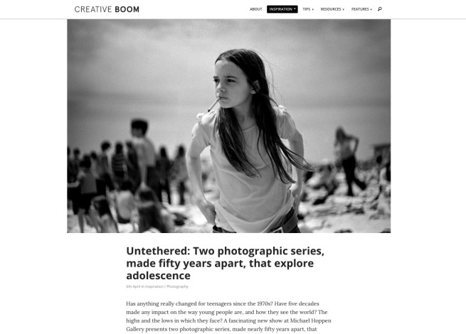Untethered: Two photographic series, made fifty years apart, that explore adolescence