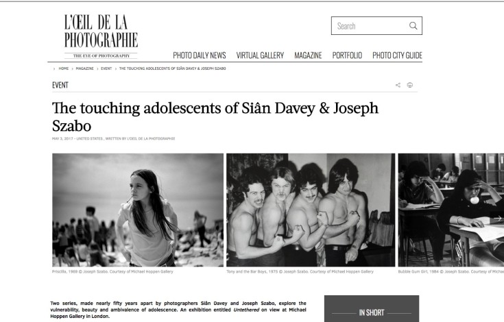 The touching adolescents of Siân Davey & Joseph Szabo