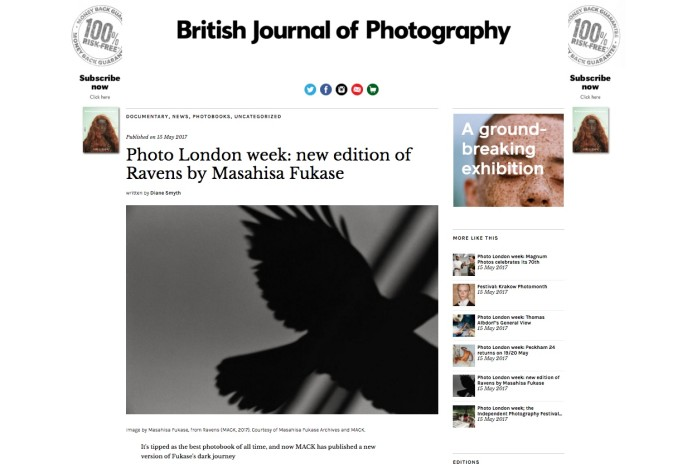 Photo London week: new edition of Ravens by Masahisa Fukase