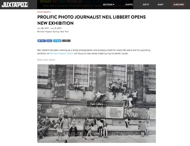 PROLIFIC PHOTO JOURNALIST NEIL LIBBERT OPENS NEW EXHIBITION