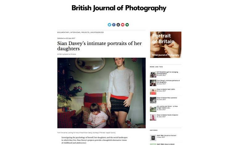 Sian Davey's intimate portraits of her daughters