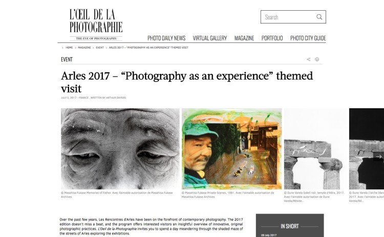 "Arles 2017 – ""Photography as an experience"" themed visit"