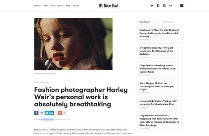Fashion photographer Harley Weir's personal work is absolutely breathtaking