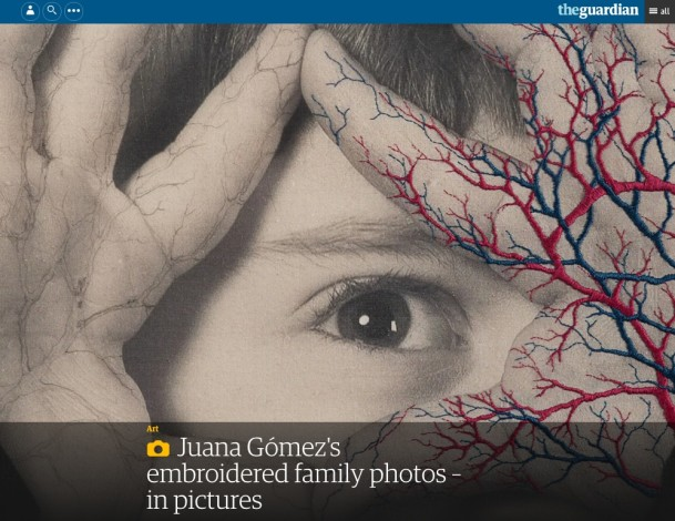 Juana Gómez's embroidered family photos – in pictures