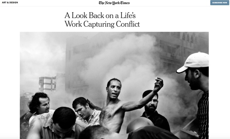 A Look Back on a Life's Work Capturing Conflict