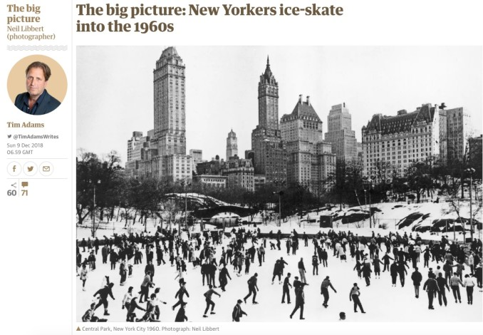 The big picture: New Yorkers ice-skate into the 1960s