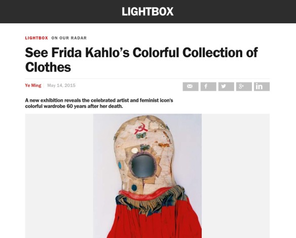 See Frida Kahlo's Colorful Collection of Clothes