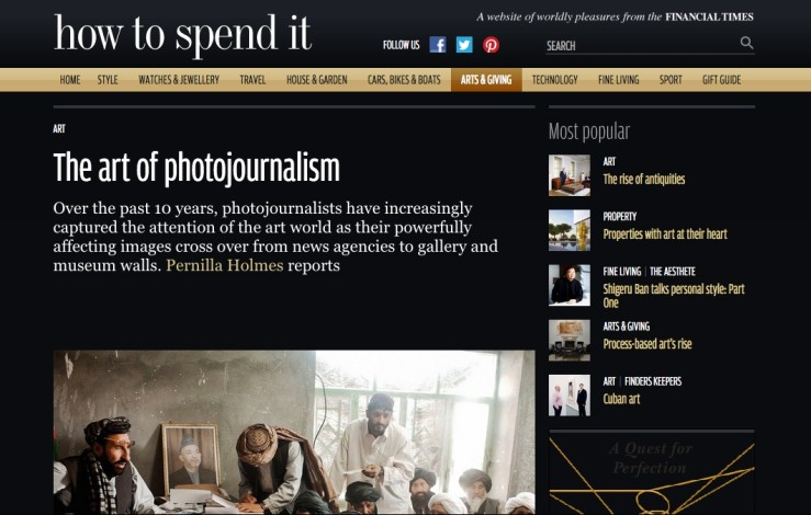 How To Spend It: The art of photojournalism