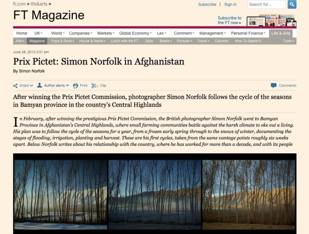 Prix Pictet: Simon Norfolk in Afghanistan