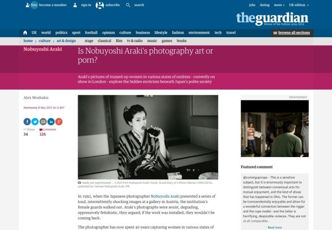 Is Nobuyoshi Araki's photography art or porn?