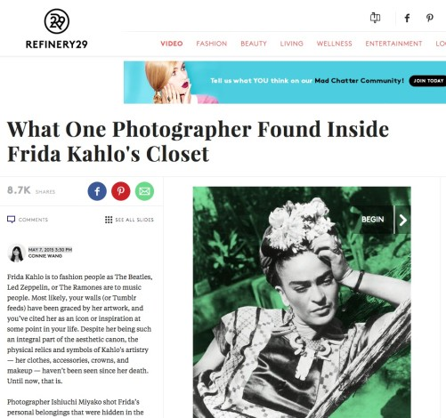What One Photographer Found Inside Frida Kahlo's Closet