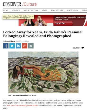 Locked Away for Years, Frida Kahlo's Personal Belongings Revealed and Photographed