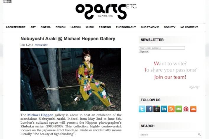 Nobuyoshi Araki @ Michael Hoppen Gallery