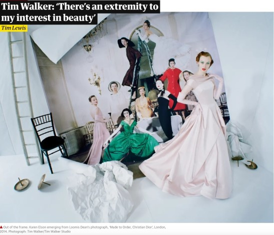 Interview with Tim Walker - The Guardian
