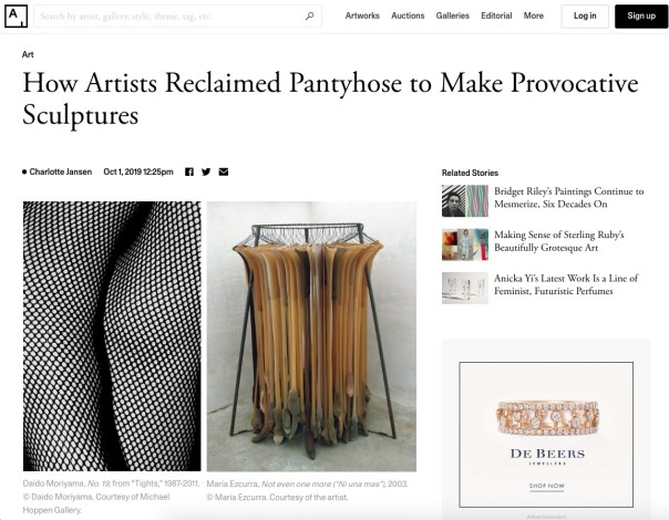 How Artists Reclaimed Pantyhose to Make Provocative Sculptures