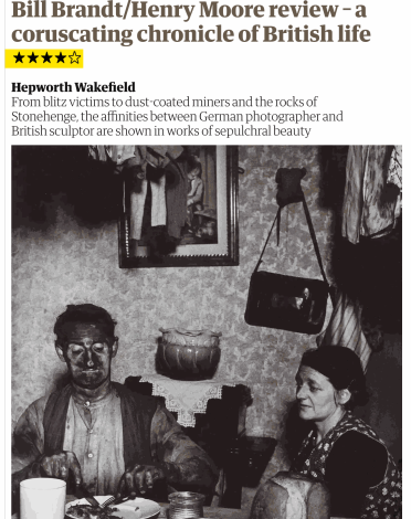 Bill Brandt/Henry Moore review – a coruscating chronicle of British life