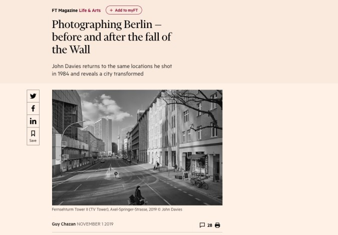 Photographing Berlin — before and after the fall of the Wall
