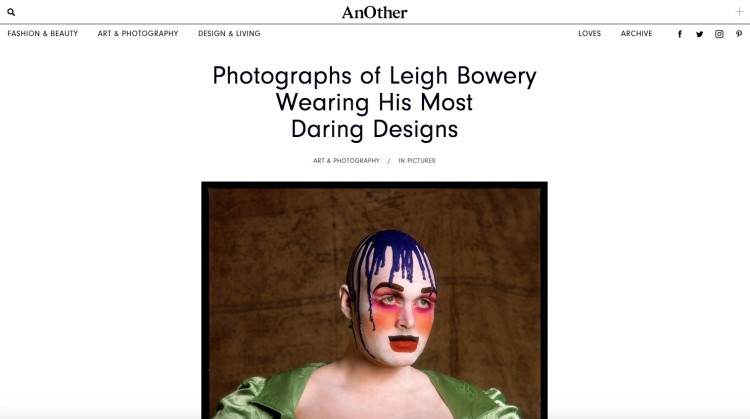 AnOther: Photographs of Leigh Bowery Wearing His Most Daring Designs