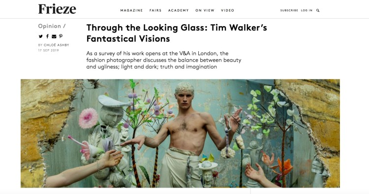 Through the Looking Glass: Tim Walker's Fantastical Visions
