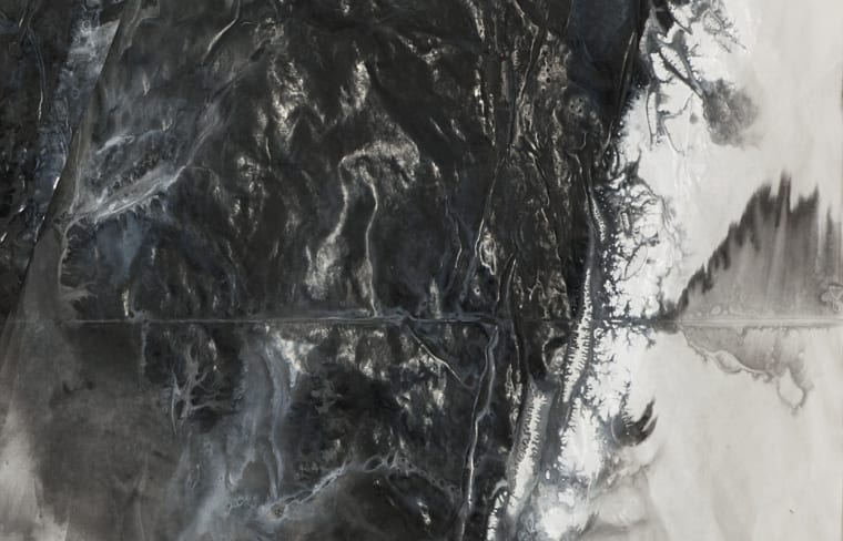 Zheng Chongbin, Untitled (detail), 2015, Ink and acrylic on xuan paper, 96 x 243 cm