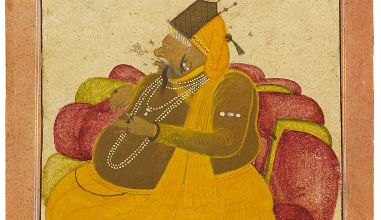 "<div class=""title""><em>Rawal Sri Lakhan Singh as a Bridegroom</em></div><div class=""year""> Ascribed to Ustad Ahmad son of Pir Bakhsh, Bikaner, 1733-34</div><div class=""medium"">Opaque pigments on paper</div><div class=""dimensions"">Painting: 14.1 x 10.9 cm; Folio: 16.7 x 13.3 cm <br></div>"