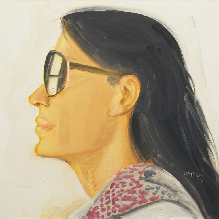 Alex Katz, Carmen, 2008, Oil on board, 12 x 16 inches (30.5 x 40.6 cm)