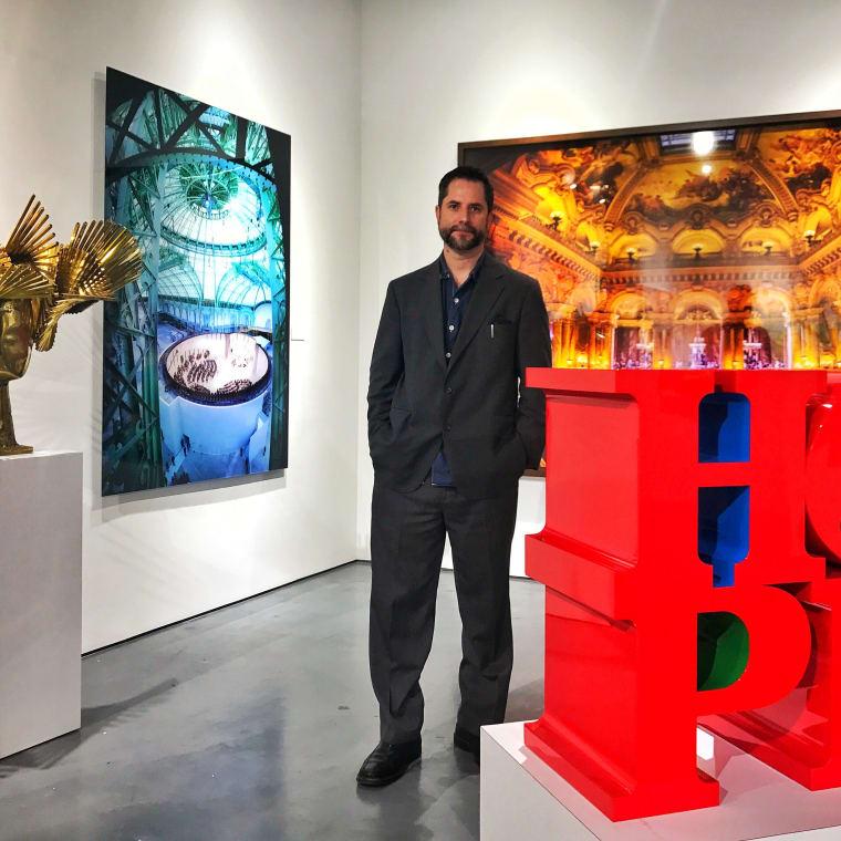 Gabriel Delgado in Rosenbaum Contemporary's Boca Raton gallery