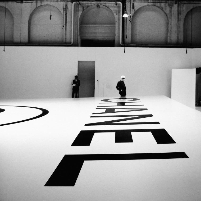 Lagerfeld Above Chanel, Fall/Winter 2006, Paris