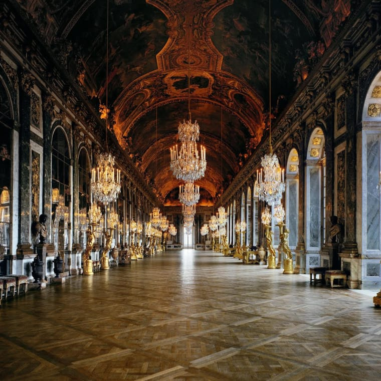 Robert Polidori; Galeries des Glaces (113) CCE.02.034, Corps Central - 1er etage, Chateau de Versailles, Versailles, France; 1983; Fujicolor crystal archive print mounted to dibond; 50 x 60 inches (127 x 152.4 cm); Edition of 10