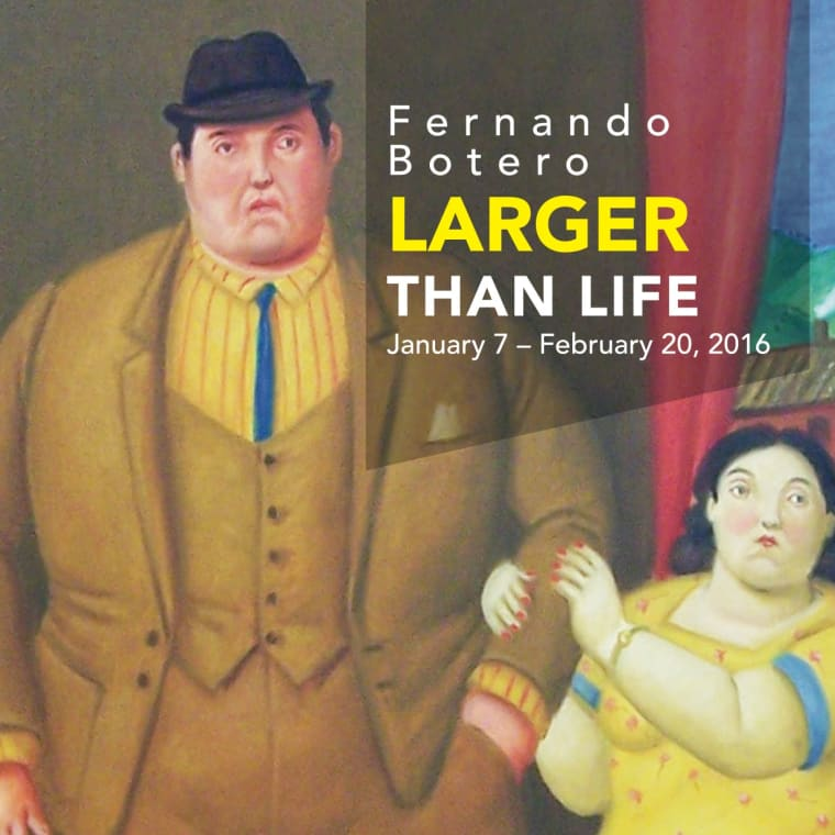 "Detail of ""Man and Woman (Pareja)"" from Fernando Botero, Larger Than Life, January 7-February 20, 2016"
