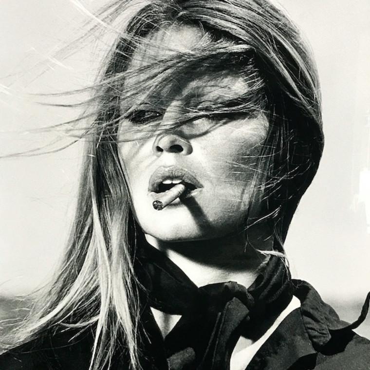 Brigitte Bardot with Cigar, Spain, 1971 - LIGHT BOX