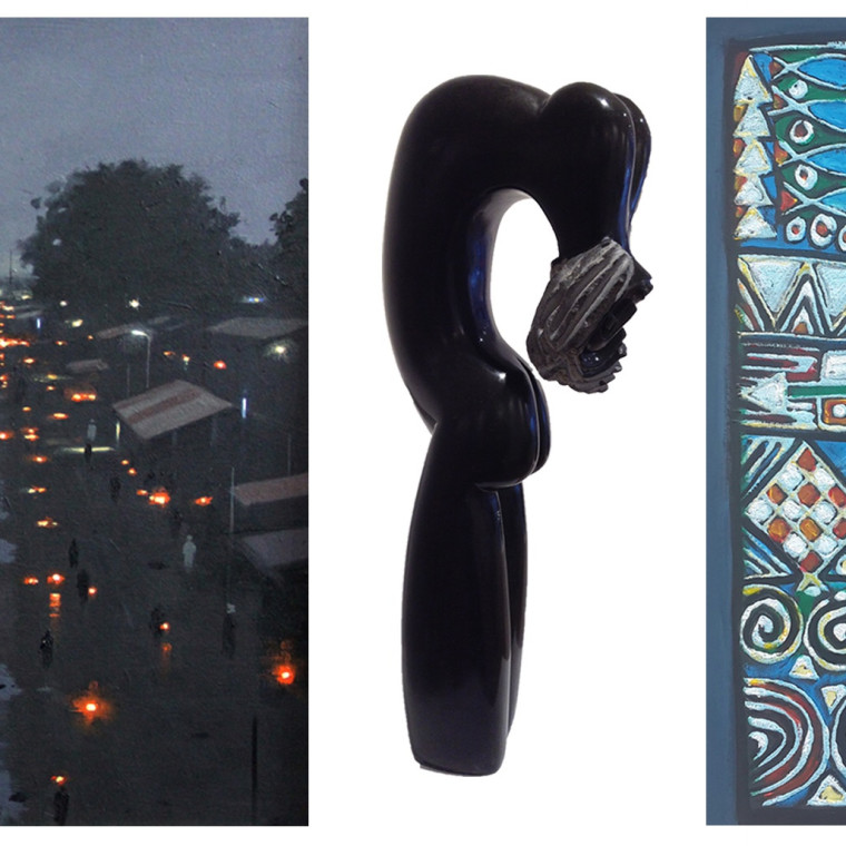 Group Exhibition--Abiodun Olaku, Tola Wewe and Phillip Kotokwa