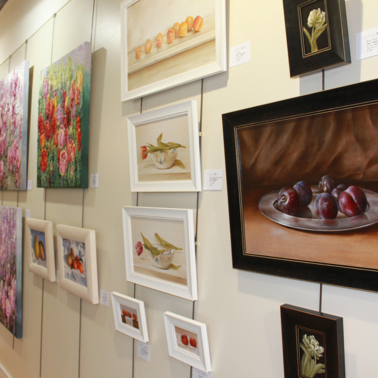 Paintings for Spring Exhibition opening a wonderful success!