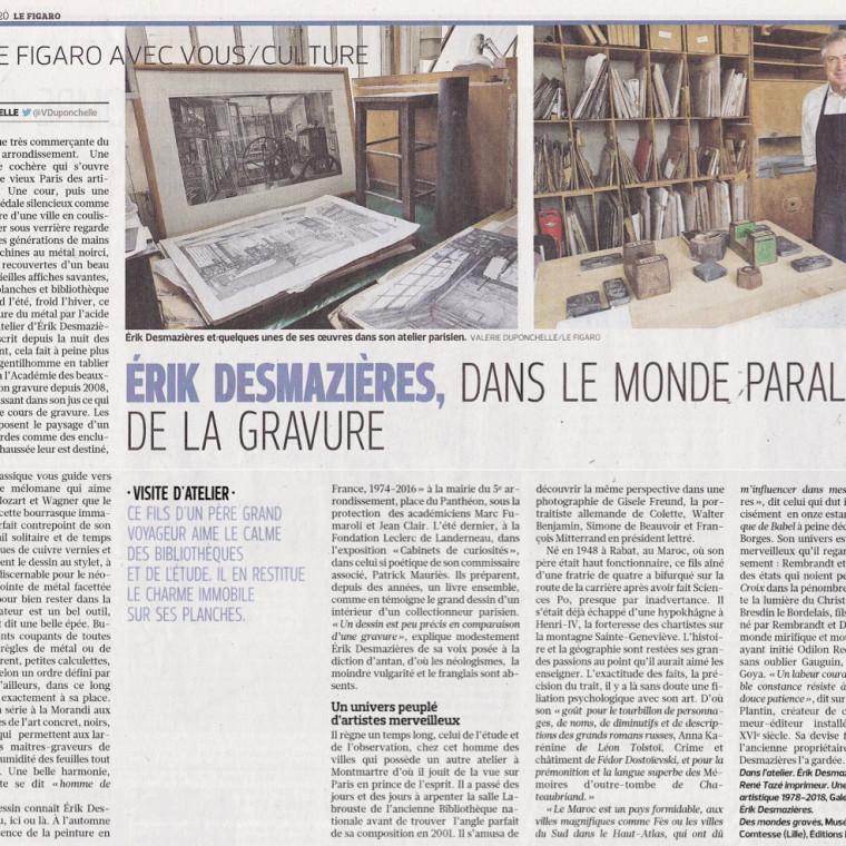 Érik Desmazières, dans le monde parallèle de la gravure