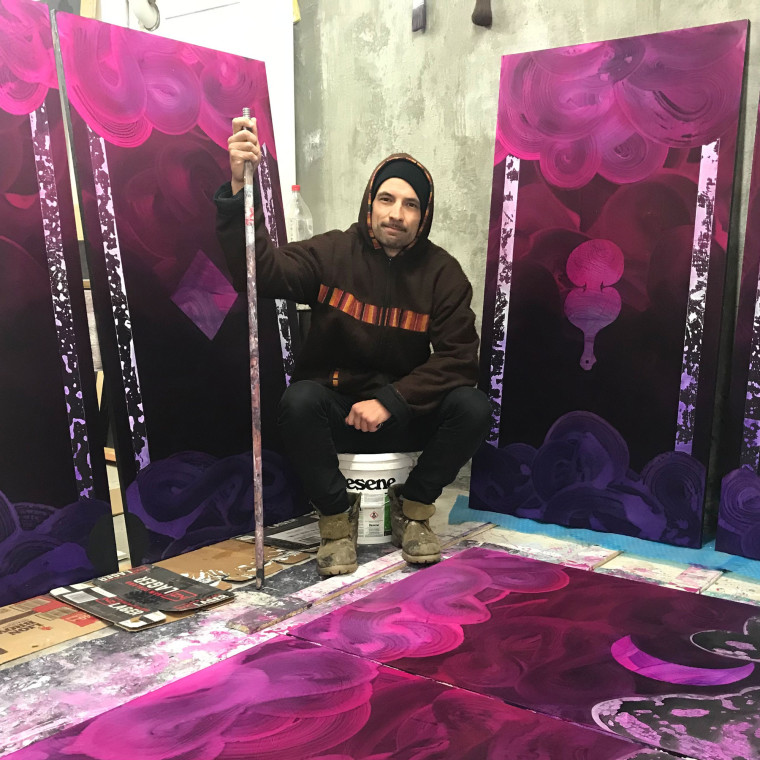 First solo show in six years for Christchurch artist finds calm in fatherhood