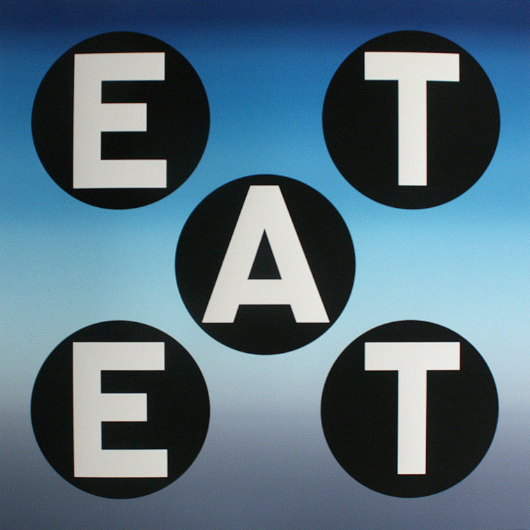 ROBERT INDIANA, EAT, 2011, Silkscreen on paper, 32 x 30 inches (81.3 x 76.2 cm), Edition of 92