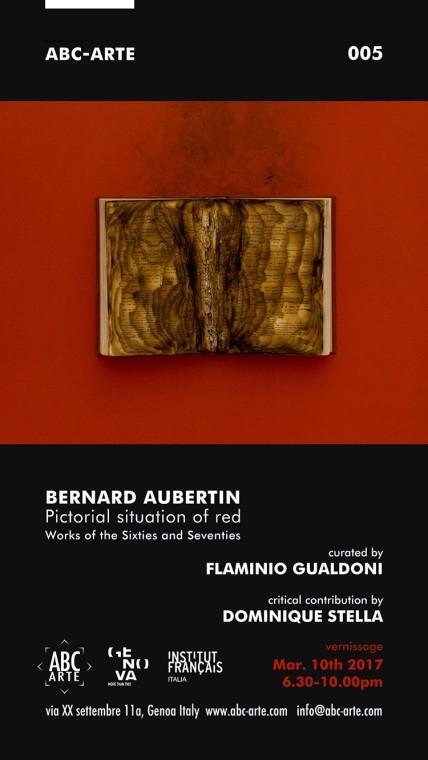 Opening mostra Bernard Aubertin : Situazione pittorica del rosso. Opere anni sessanta e settanta.