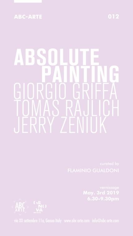 Opening Pitture Assolute | Giorgio Griffa, Tomas Rajlich e Jerry Zeniuk