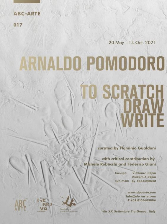 Opening Arnaldo Pomodoro. To scratch, draw, write