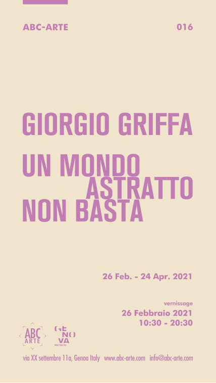 Opening Giorgio Griffa. Un mondo astratto non basta