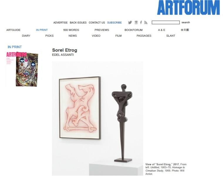 Sorel Etrog review in Artforum
