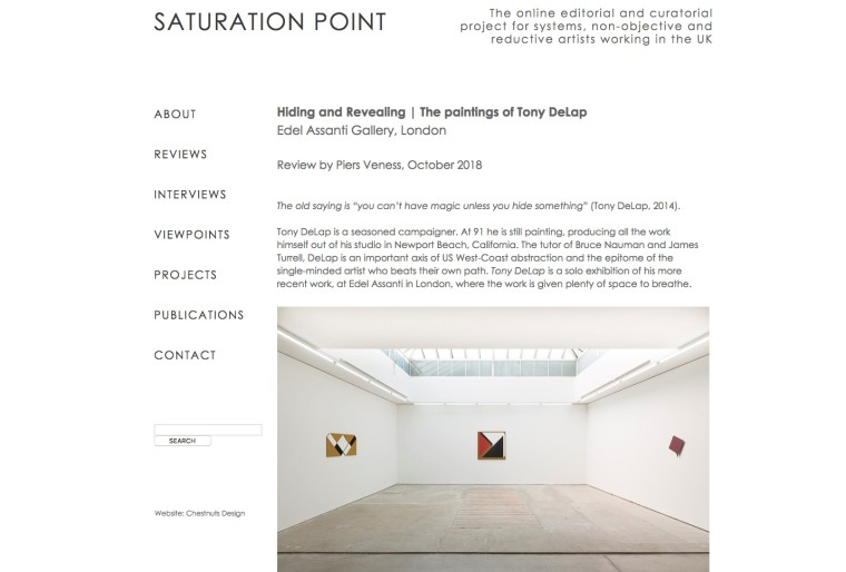 Tony Delap in Saturation Point
