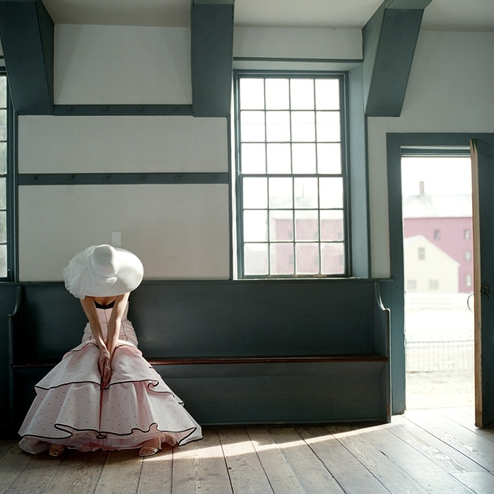 Rodney Smith, Nelly Sitting Near Open Door, Hancock Shaker Village, Massachusetts, 2005