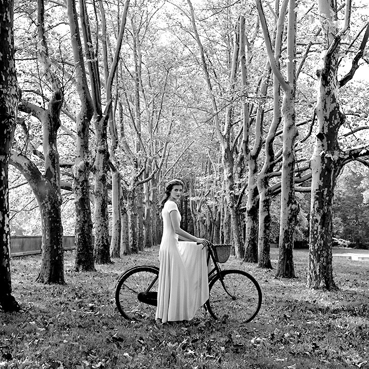 Rodney Smith, Anika on Bicycle, Long Island, New York, 1993