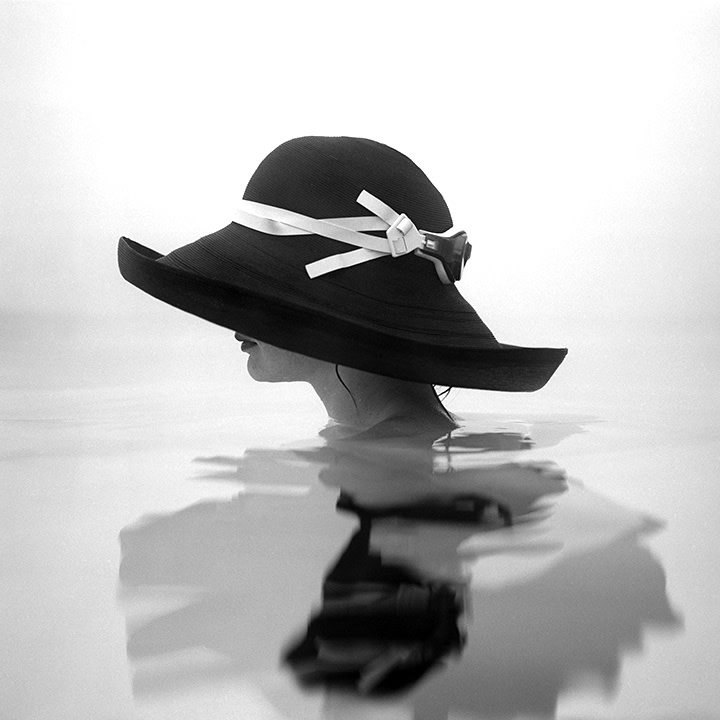 Rodney Smith, Victoria in Profile in Swimming Pool, Snedens Landing, NY, 2001
