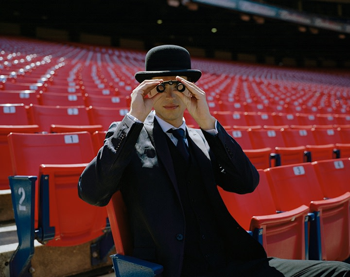 Rodney Smith, Andrew Seated in Stadium, New York, New York, 2008